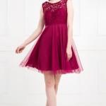 Öpücük Yaka Kırmızı Elbise