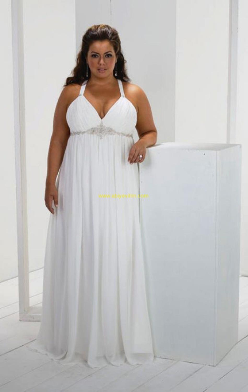 Платья для полных женщин в греческом стиле