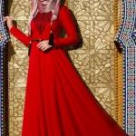 Muslima Wear Lale Desenli
