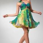 Renkli Kısa Abiye Elbiseler