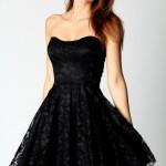 Siyah spor abiye Elbise