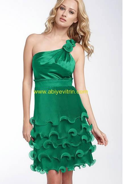 Yeşil Mini Abiye