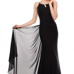 Eteği Açılan Siyah Elbise