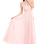 Uzun Pudra Elbise Modeli