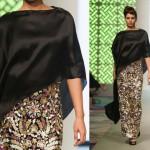 Siyah Pelerinli Abiye Modeli