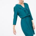 koton yakası fırfırlı elbise