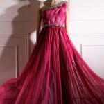 Şarap Rengi Elbise Modeli