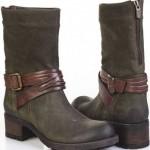 koyu yeşil bayan çizme modelleri