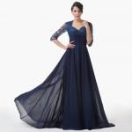 gece mavisi kışlık elbise