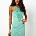 mint yeşili kısa elbise