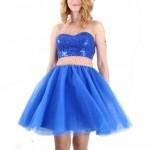 prenses mavi abiye