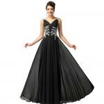 prenses model uzun siyah abiye
