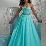 turkuaz prenses model abiye tüllü