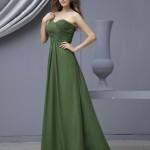 yeşil straptez abiye