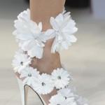 çiçekli gelin ayakkabısı modeli