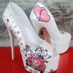 özel tasarım gelin ayakkabısı modeli