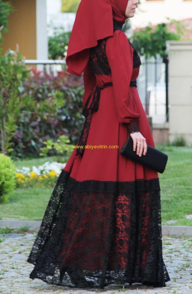 Suhneva kırmızı siyah abiye