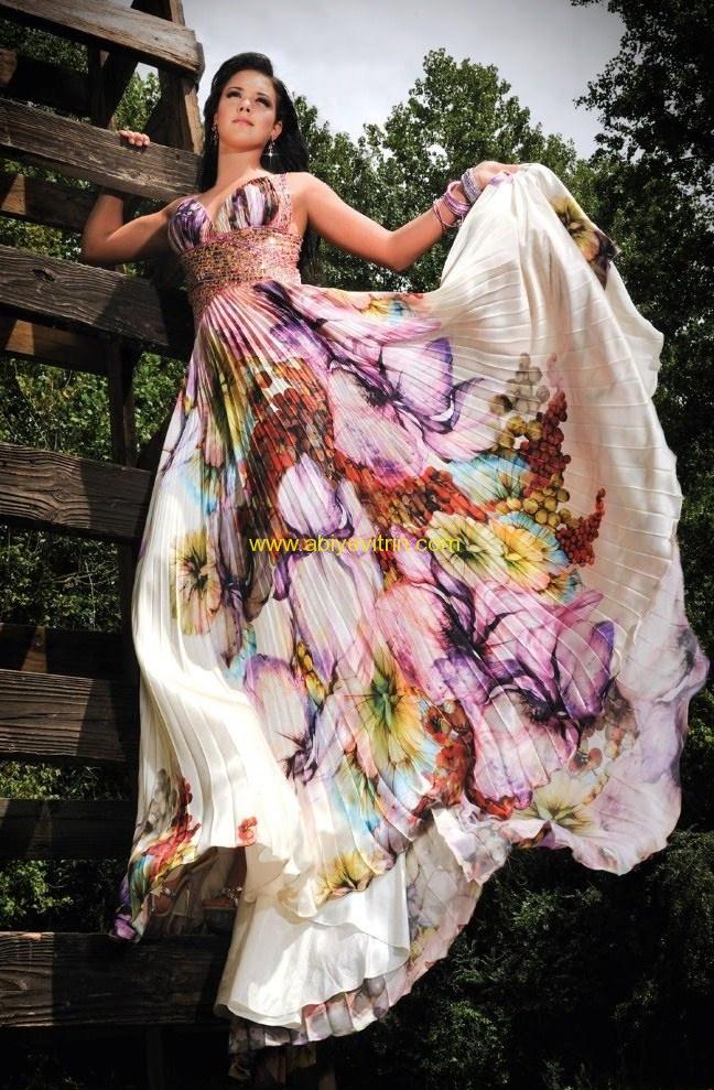 akerdion kumaş çiçekli abiye