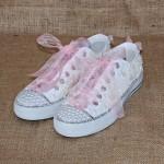 beyaz spor gelin ayakkabısı