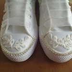 dantelli converse spor gelin ayakkabısı