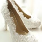 dantelli gelin ayakkabısı modeli