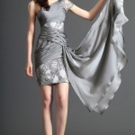 drape mini gri abiye