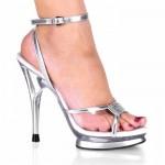gümüş abiye ayakkabı modeli