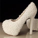 incili gelin ayakkabısı modeli