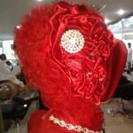 kırmızı tesettür başı modelleri