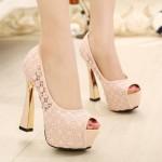 pudra gelin ayakkabısı modeli