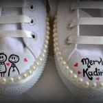 romantik spor gelin ayakkabısı