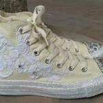 sarı spor gelin ayakkabısı
