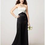 siyah beyaz abiye elbise
