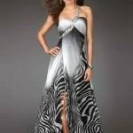 taşlı zebra abiye