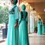 turkuaz tesettür abiye modelleri