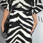 yarım kol zebra desenli abiye