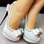 zımbalı gelin ayakkabısı modeli