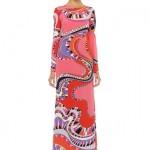 Renkli abiye elbise