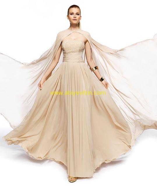 Sade abiye elbise