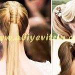 Hacimli gelin saçı modelleri