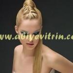 Sıkı toplanmış gelin saçı modeli