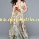 Uzun şifon Yaz elbise modelleri