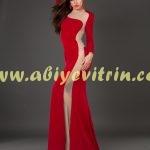 Kırmızı Transparan Abiye Modelleri