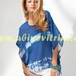 Batik desenli Yaz bluz modelleri