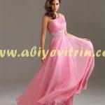 Pembe Abiye Elbise Modelleri