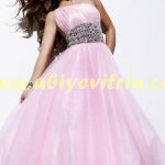Pembe Elbise Abiye Modeli