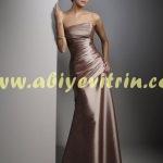 Straplez Abiye Elbise