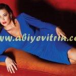 Faik Sönmez mavi abiye elbise