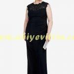 Kayınvalide siyah abiye elbise