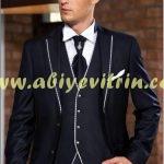 Lacivert damatlık takım elbise